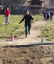 Salto en largo en las Olimpiadas de atletismo.