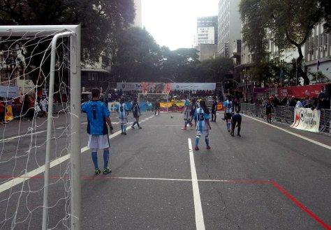 El equipo argentino en el Mundial de fútbol callejero en Brasil.