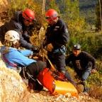 La Comarca Andina se especializó en rescate en montaña