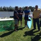 Los mejores palistas juveniles de la Argentina se mostraron en Viedma