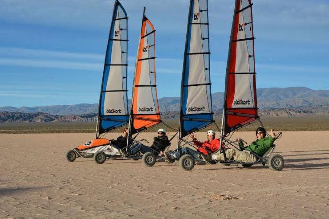 El carrovelismo internacional llega a Lago Puelo